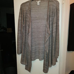 Design History Waterfall Open Front Cardigan 2X